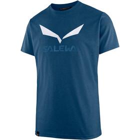 SALEWA Solidlogo Dri-Release Camiseta Manga Corta Hombre, poseidon melange